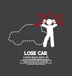 Lose car concept graphic symbol vector