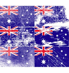 Flag of australia with old texture vector