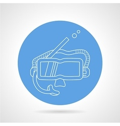 Round icon for snorkeling mask vector