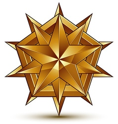 Wonderful template with golden star symbol best vector