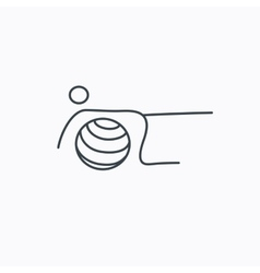 Pilates fitness sign gymnastic ball icon vector
