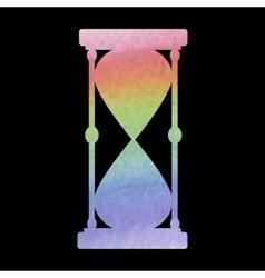 Watercolor hourglass icon vector