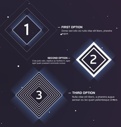 Web design template with option placeholder vector