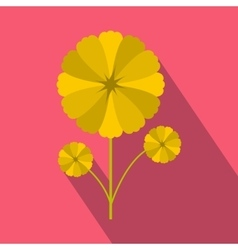 Yellow flower icon in flat style vector