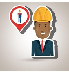 Man worker isolated icon design vector