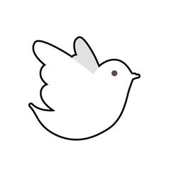 Dove icon bird and peace design graphic vector