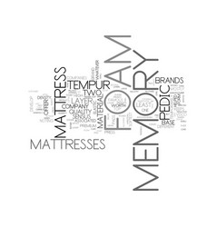 A guide to memory foam companies text word cloud vector