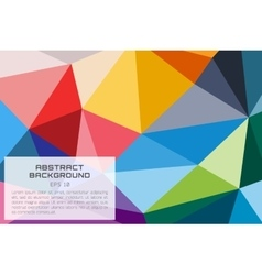 Abstract background wallpaper Triangle vector image