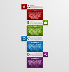 Abstract square business options infographics vector