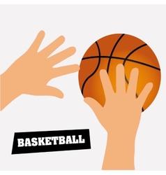 basketball design vector image vector image