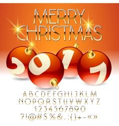 Beautiful merry christmas 2017 greeting card vector