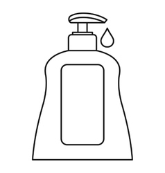 Body care lotion icon outline style vector image