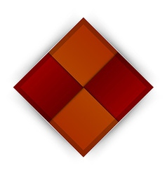 Business four squares red vector