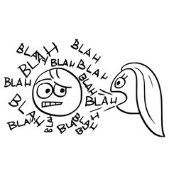 Cartoon of man sick by talking woman vector