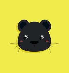 Cartoon panther face vector