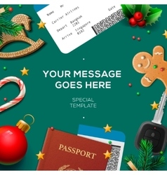 Christmas and New Year winter vacations holidays vector image vector image