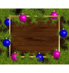 Christmas balls frame vector