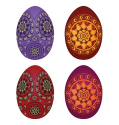 Colorful easter eggs3 vector image vector image