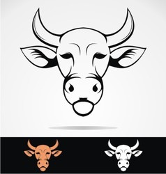 Cow head mascot vector
