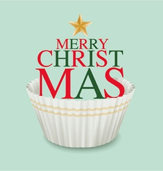 Cup cake christmas3 vector