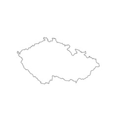 czech republic map outline vector image vector image