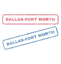 Dallas-fort worth textile stamps vector