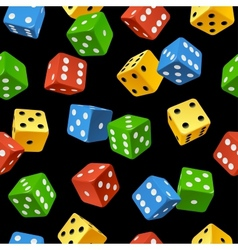 Dice seamless pattern vector