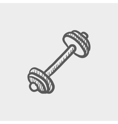 Dumbell Sketch icon vector image
