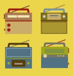 Flat design vintage radio vector