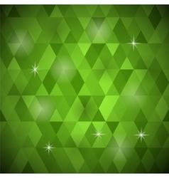 Green geometric retro mosaic pattern vector
