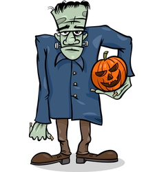 Halloween frankenstein cartoon vector