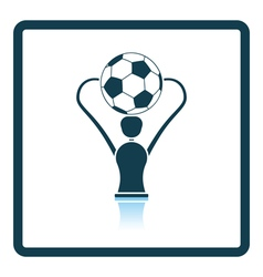 Icon of football cup vector