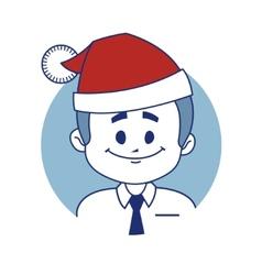 Icon with christmas character santa vector