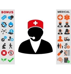 Medical operator icon vector