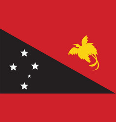 Papua new guinea flag for independence day and vector