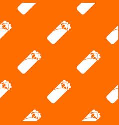 Shawarma sandwich pattern seamless vector