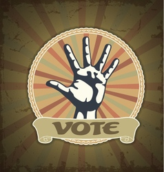 Symbol vote vector image