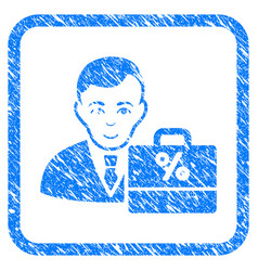 Tax accounter framed stamp vector