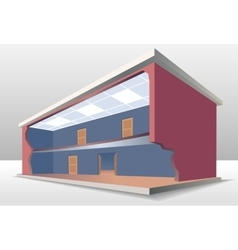 The building cross section vector