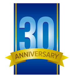 thirty years anniversary label vector image