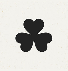 three leaf clover icon vector image vector image