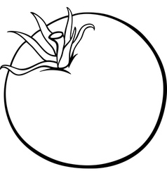 tomato vegetable cartoon for coloring book vector image vector image