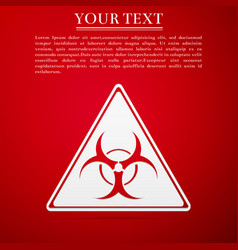 Triangle sign with a biohazard sign flat icon on vector