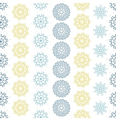 Yellow gray abstract mandalas striped seamless vector