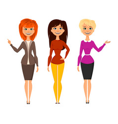 young pretty women vector image