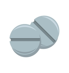 Pill medicine drug icon vector