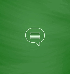 Speech bubble computer symbol vector