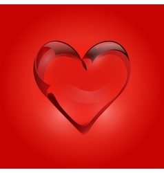 Transparent heart of rock crystal valentines day vector