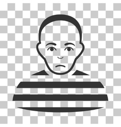 Prisoner icon vector