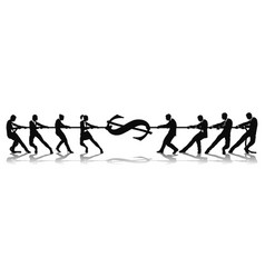 fighting for wage equality tug of war concept vector image